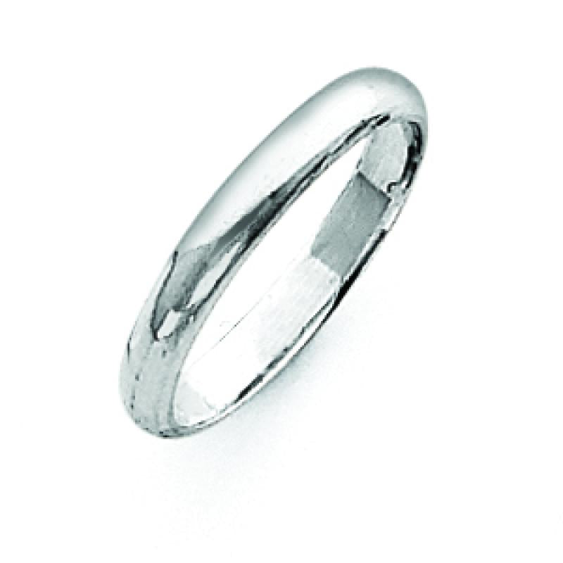 Sterling Silver 0.12 inch Half-Round Band
