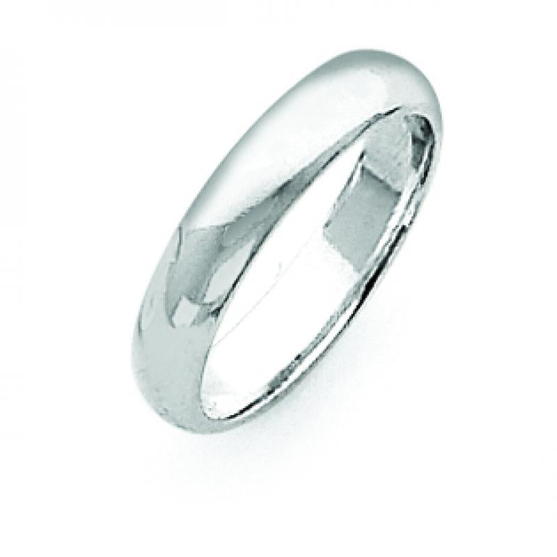 Sterling Silver 0.16 inch Half-Round Band
