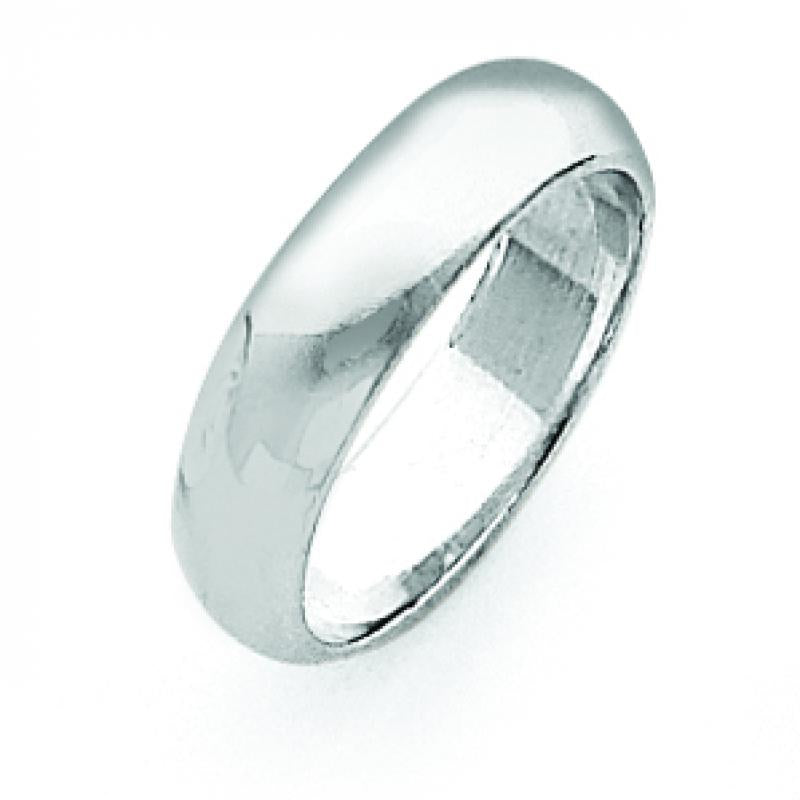 Sterling Silver 0.2 inch Half-Round Band