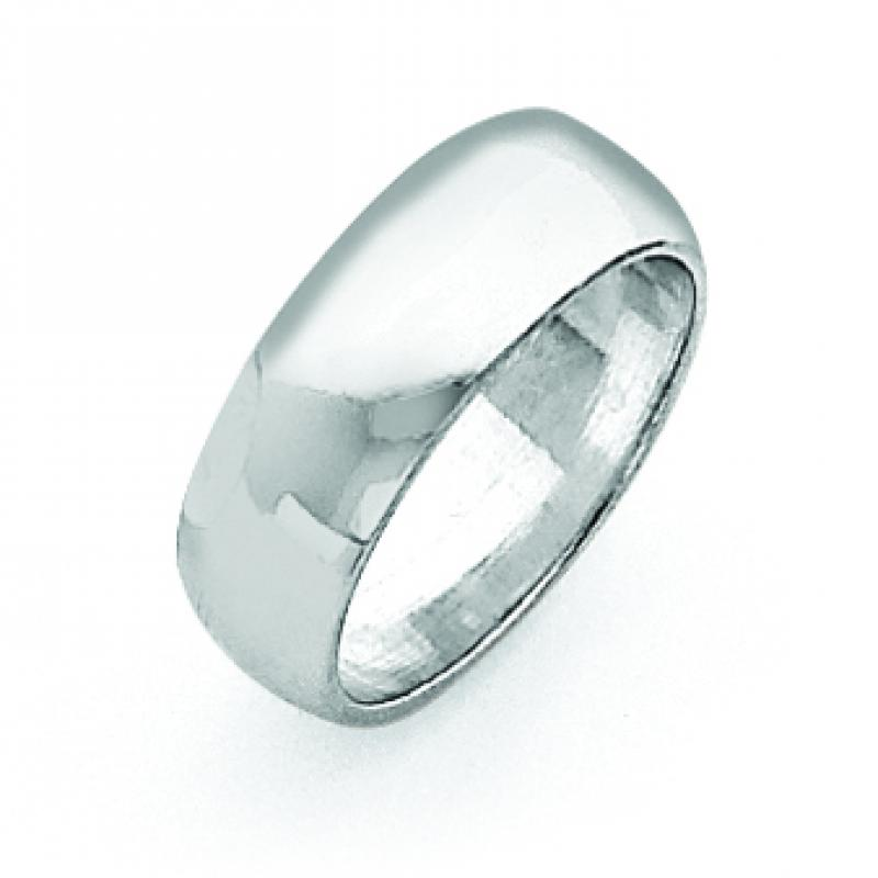 Sterling Silver 0.27 inch Half-Round Band