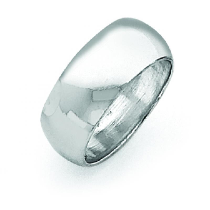 Sterling Silver 0.31 inch Half-Round Band
