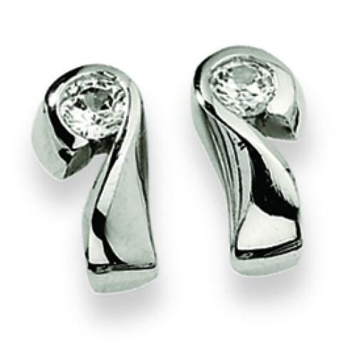 Stainless Steel CZ Earrings