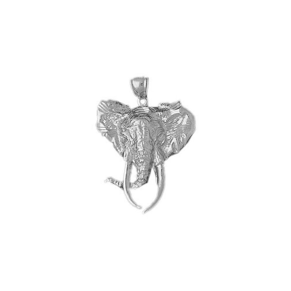 Elephant Head Charm Pendant 14k Gold
