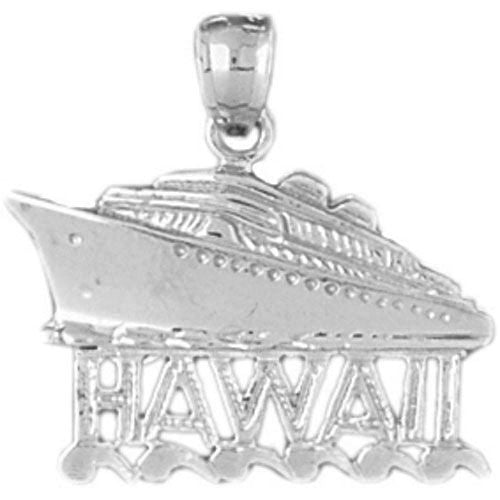 Cruise Ship Hawaii Charm Pendant 14k Gold