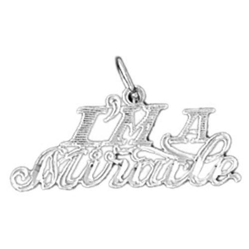 I Am A Miracle Charm Pendant 14k Gold
