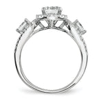 Sterling Silver & CZ Brilliant Embers Rhodium 2-Piece Wedding Set