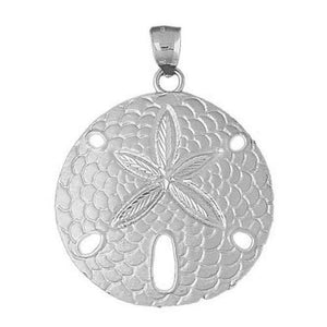 Sand Dollar Sea Urchins Charm Pendant 14k Gold