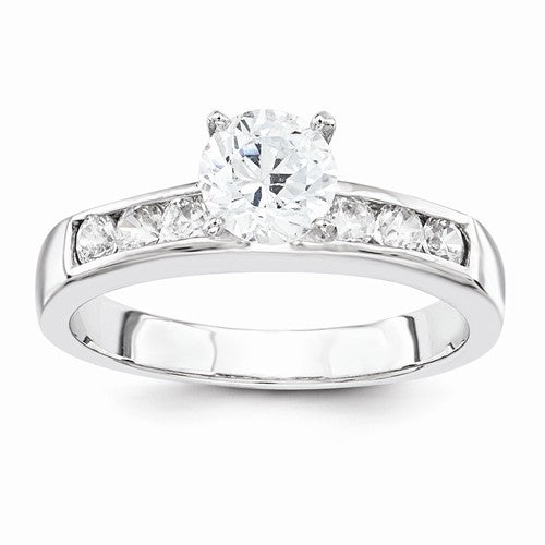2-Piece Sterling Silver  CZ Wedding Set Ring