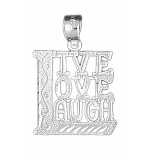 Live Love Laugh Charm Pendant 14k Gold