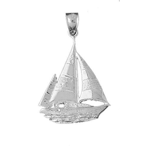 Sailboat Charm Pendant 14k Gold