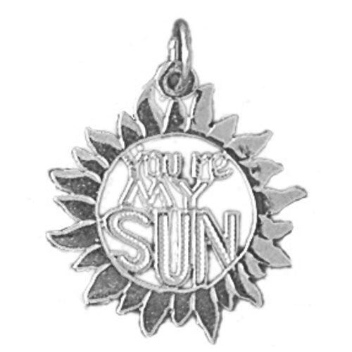 You Are My Sun Charm Pendant 14k Gold