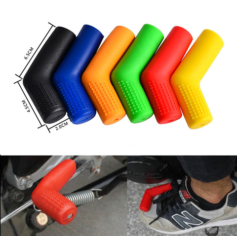 Motorcycle Bike Gear Rubber Shifter Sock Boot Shift Lever Protector Cover Black