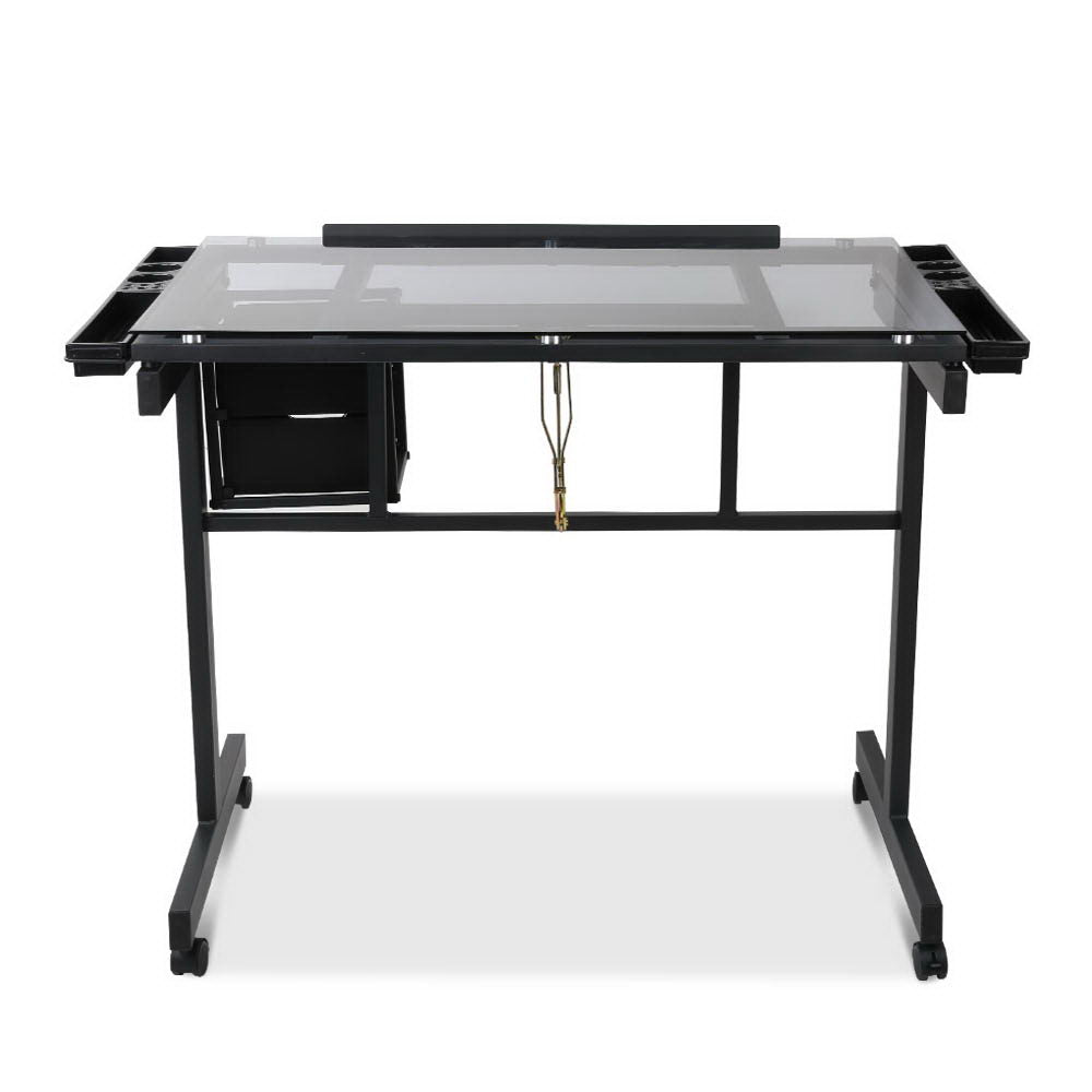 Artiss Adjustable Drawing Desk - Black and Grey