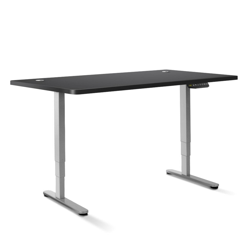 Artiss Height Adjustable Standing Desk Sit Stand Motorised Electric Roskos III Grey Black