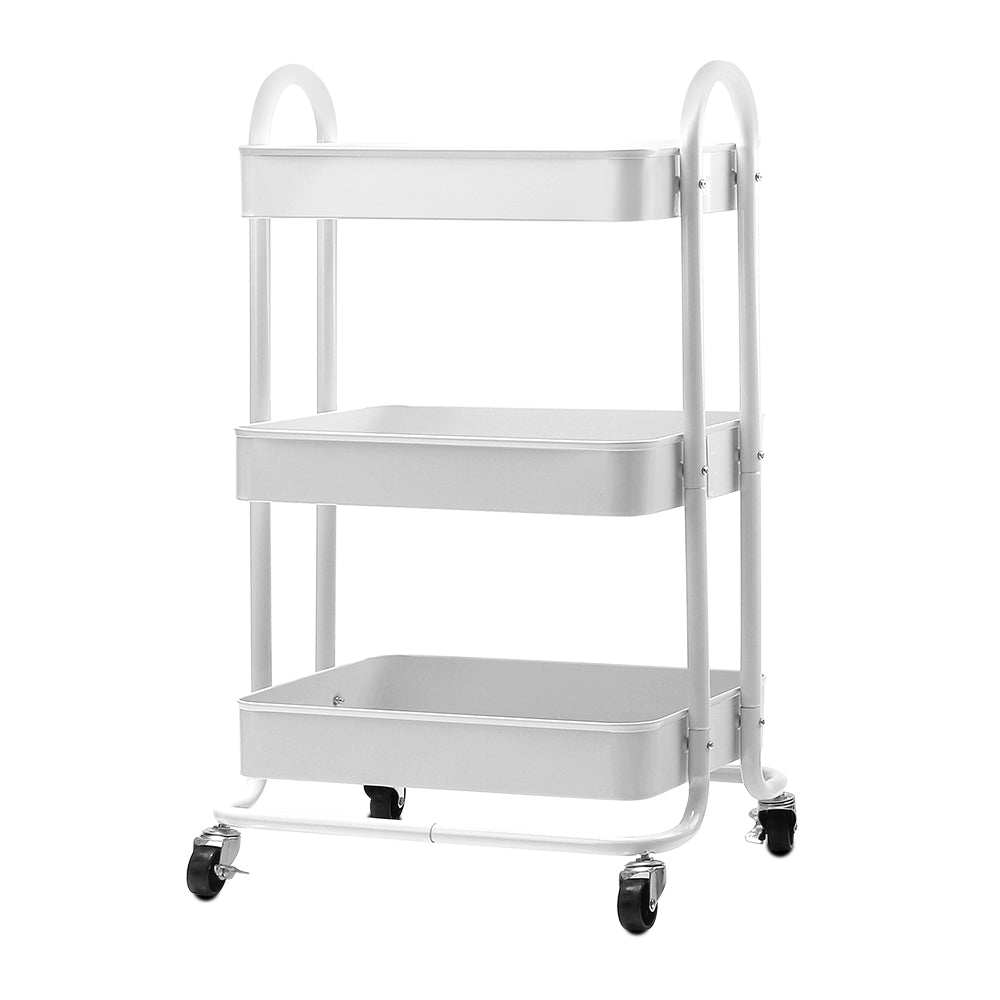 Artiss Kitchen Trolley Storage  Cart Portable 3 Tier Rolling Rack Shelf Wheels Organiser