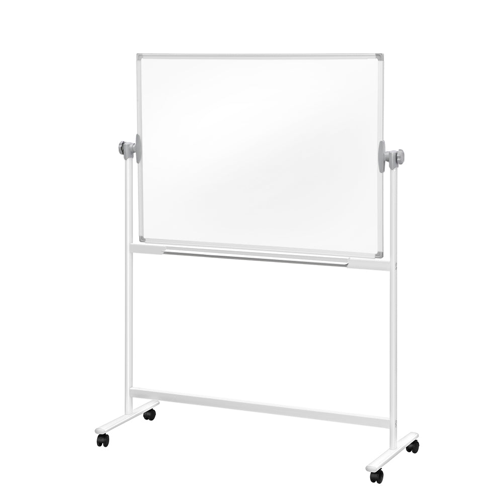 Mobile Whiteboard with Stand Double Sided Magnetic Aluminum Frame 180x120cm