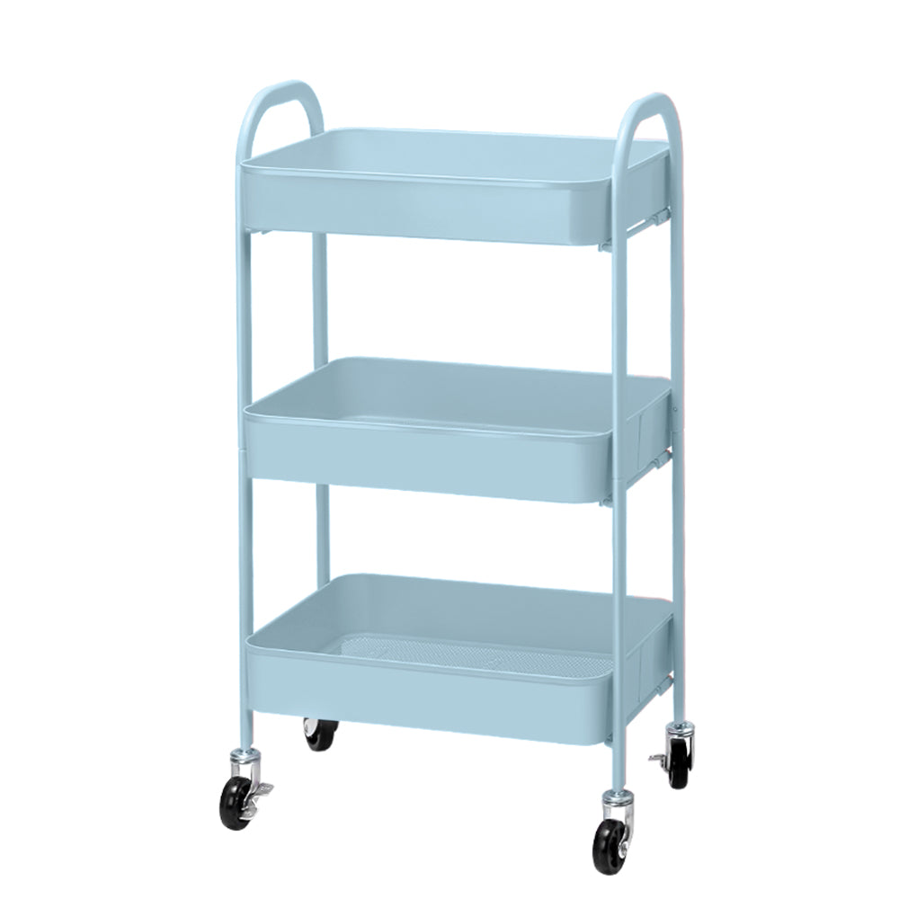 Artiss Kitchen Storage Cart Portable Trolley Rolling Shelf Rack Wheels Ofiice