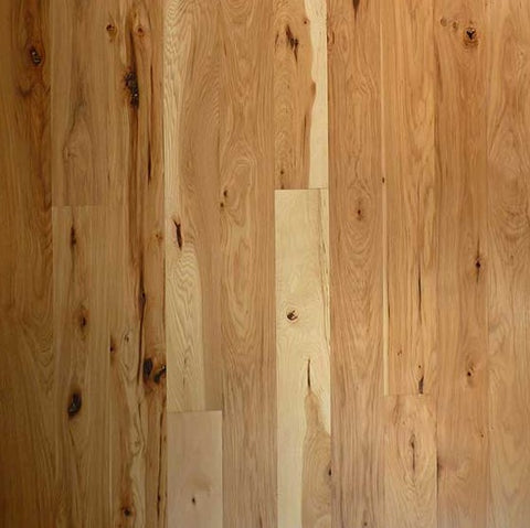 "4"" x 3/4"" #2 Common Hickory - Unfinished"