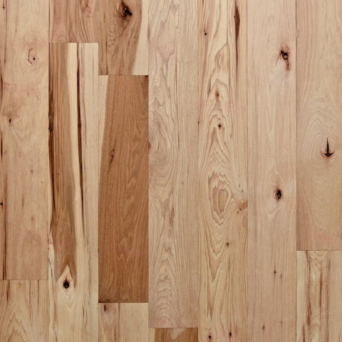"4"" x 3/4"" Character Hickory - Unfinished (5'-10' Lengths)"