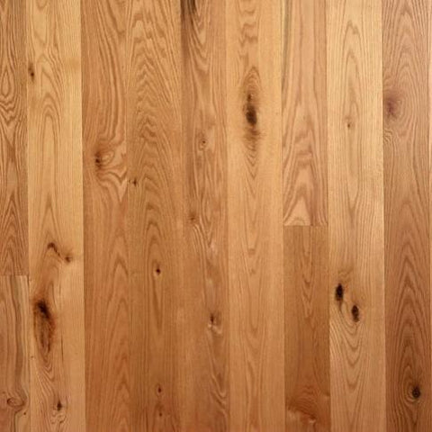"5"" x 5/8"" Character Red Oak - Unfinished Engineered (1'-10' Lengths)"