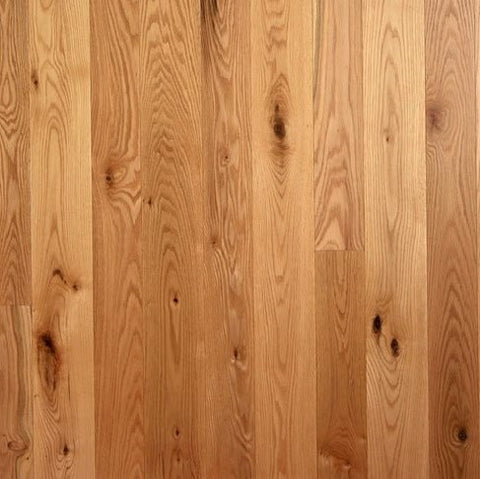 "4"" x 3/4"" Character Red Oak - Prefinished Natural"