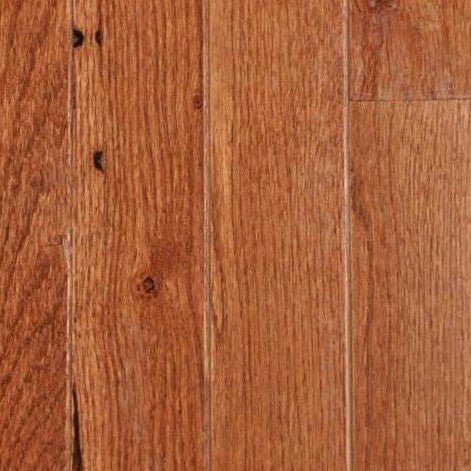 "4 1/4"" x 3/4"" Red Oak - Prefinished Warm Walnut"