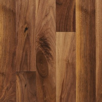 "4"" x 5/8"" Character Walnut - Unfinished Engineered (1'-10' Lengths)"