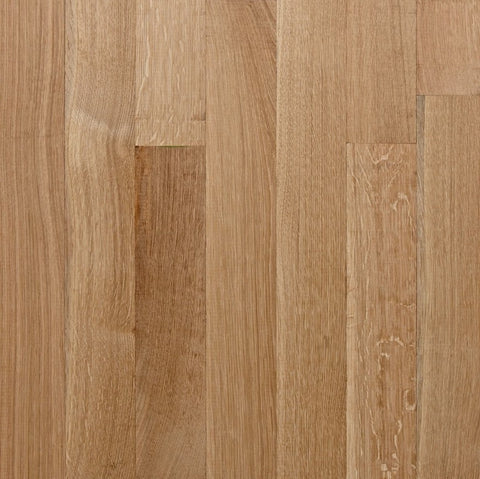 "3"" x 5/8"" Select White Oak Rift & Quartered - Unfinished Engineered (1'-10' Lengths)"