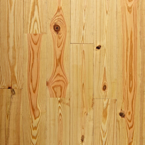 "8"" x 3/4"" Character Yellow Pine - Unfinished"