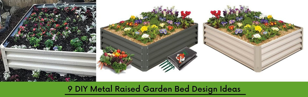 9 DIY Metal Raised Garden Bed Design Ideas