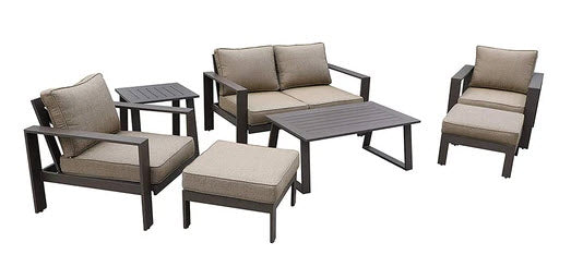 6 piece aluminum patio set