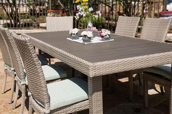 Patio rattan wicker dining set