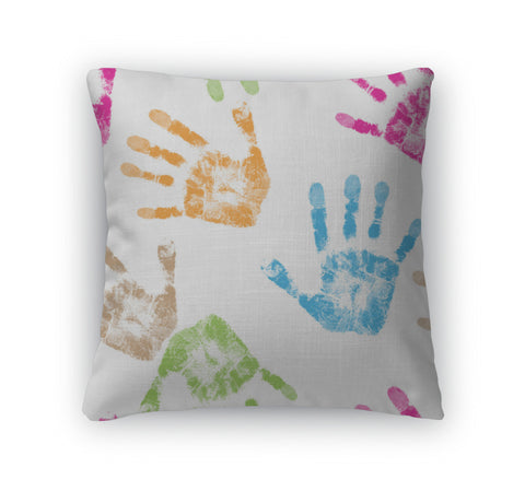 Throw Pillow, Print Of Hand