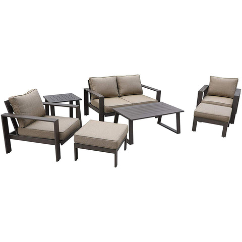 All-Weather Patio Furniture Platinum 6 pc. Seating Set by Gardennaire (Brown)