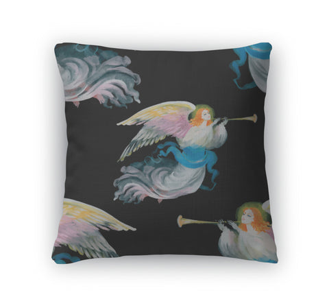 Throw Pillow, Christmas Angels Card