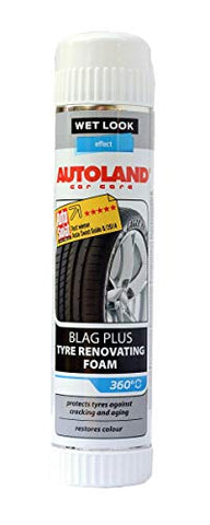 AutoLand Gloss Spray Tire Foam - No Wiping Needed - 360 Degree Stray Action - Protects and Restores Deep Black Luster to Car Tires - Stops Cracking and Fading