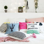 "Cactus Rules Pillow Cover 18"" x 18"""