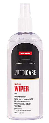 AutoLand Invisible Wiper - Water Sheets Off Windshield and Improves Visability - Streak Free Window Auto Glass Care Treatment - 10 Fluid Ounces
