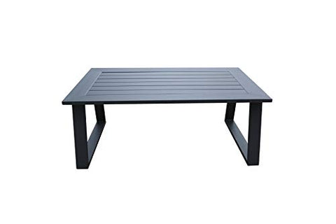 Cast Aluminum Modern Rectangular Outdoor Patio Elegant Coffee Tea Table by Gardennaire - Gardennaire