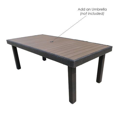 Gardennaire Balcones 1 Piece Patio Dining Table Only