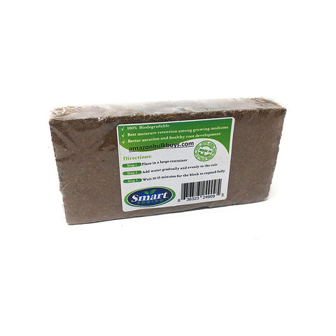 Smart Spring - Coco Peat Bricks - 1.5 lbs Coir Pith Growing Medium Organic Mix - Gardennaire