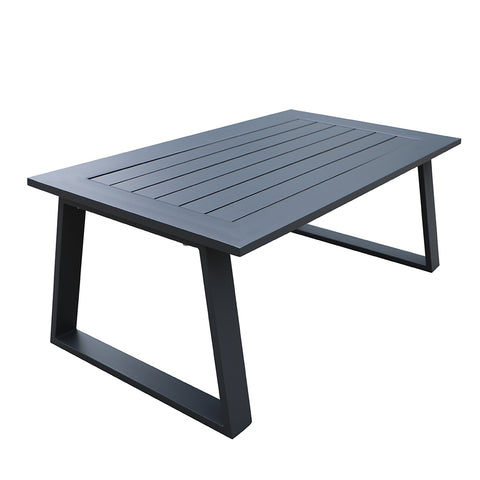 Cast Aluminum Outdoor Coffee Table, Patio Metal Side Table by Gardennaire