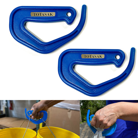 Totasak Grocery Bag Carrier (2-Pack Royal Blue) - Multiple Shopping Bag Holder Handle - Durable Lightweight Multi Purpose Secondary Handle Tool