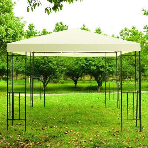 10'x10' Patio Gazebo Canopy Tent Steel