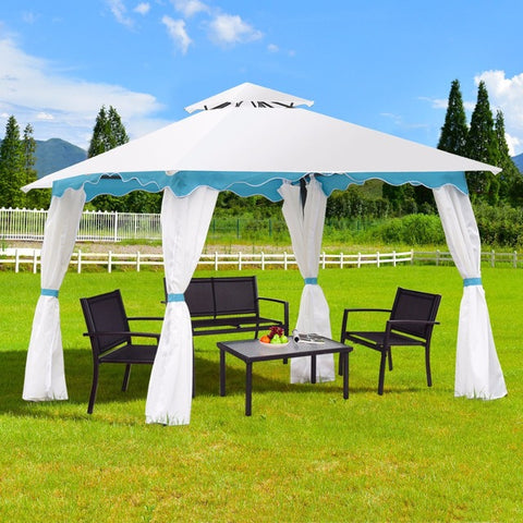 2 Tier 10'x10' Patio Gazebo Canopy Tent