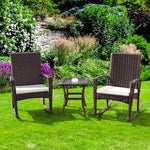 Giantex 3 PCS Rattan Wicker Patio Furniture Set
