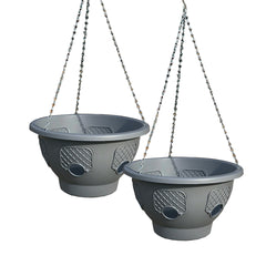 Smart Spring Ultimate Hanging Basket - 2-Pack (Grey)