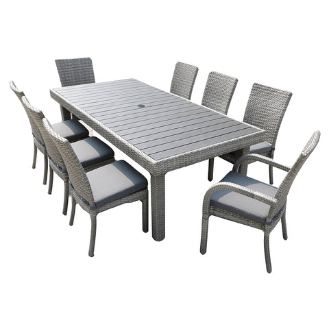 Gardennaire Balcones 9 Piece Patio Dining Set - Grey