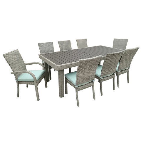 9 piece square patio dining set