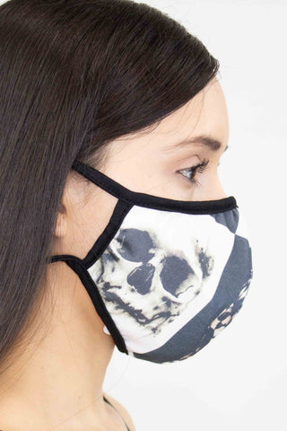 Checkered Skull Face Mask